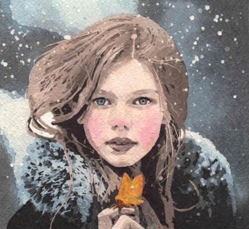Falena nella neve