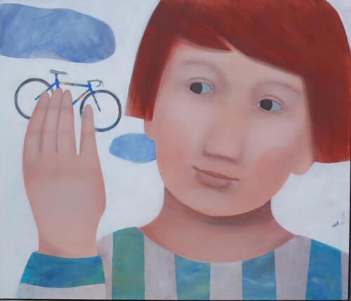 Bimbo-con-bicicletta