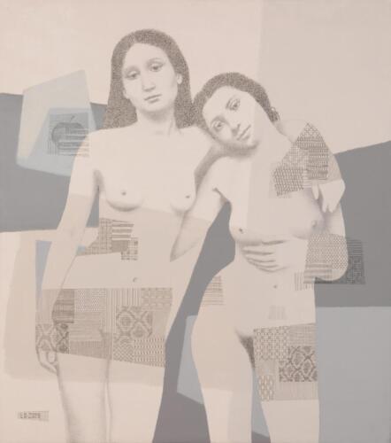 Adam and Eve in contemporary Eden