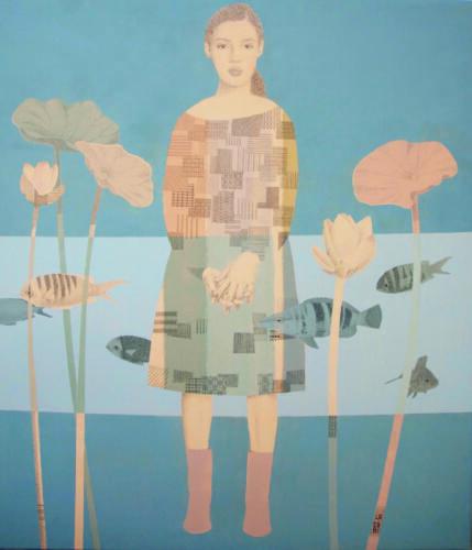 Fiori di loto e pesci
